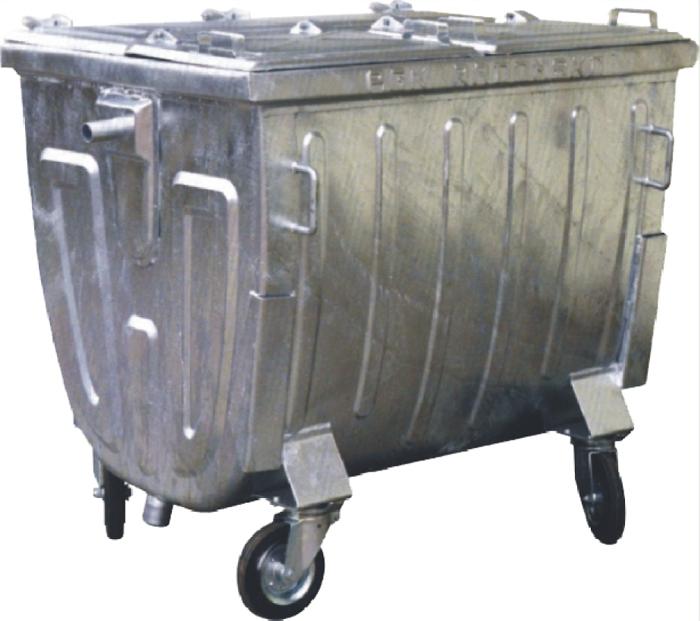 Groovy Metalowy pojemnik 1100L płaska pokrywa - Eco-Market.pl PS13